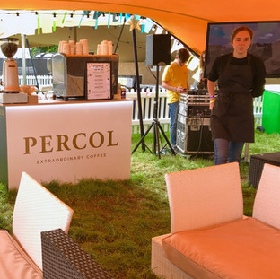 Percol Carfest VIP coffee sponsorship