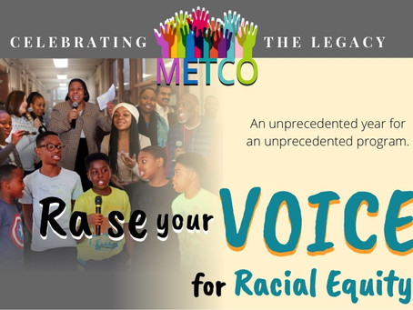 METCO Annual Celebration – Raise your voice for Racial Equity