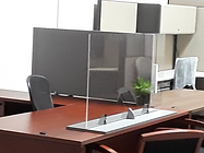 Protective Glass Office Desk