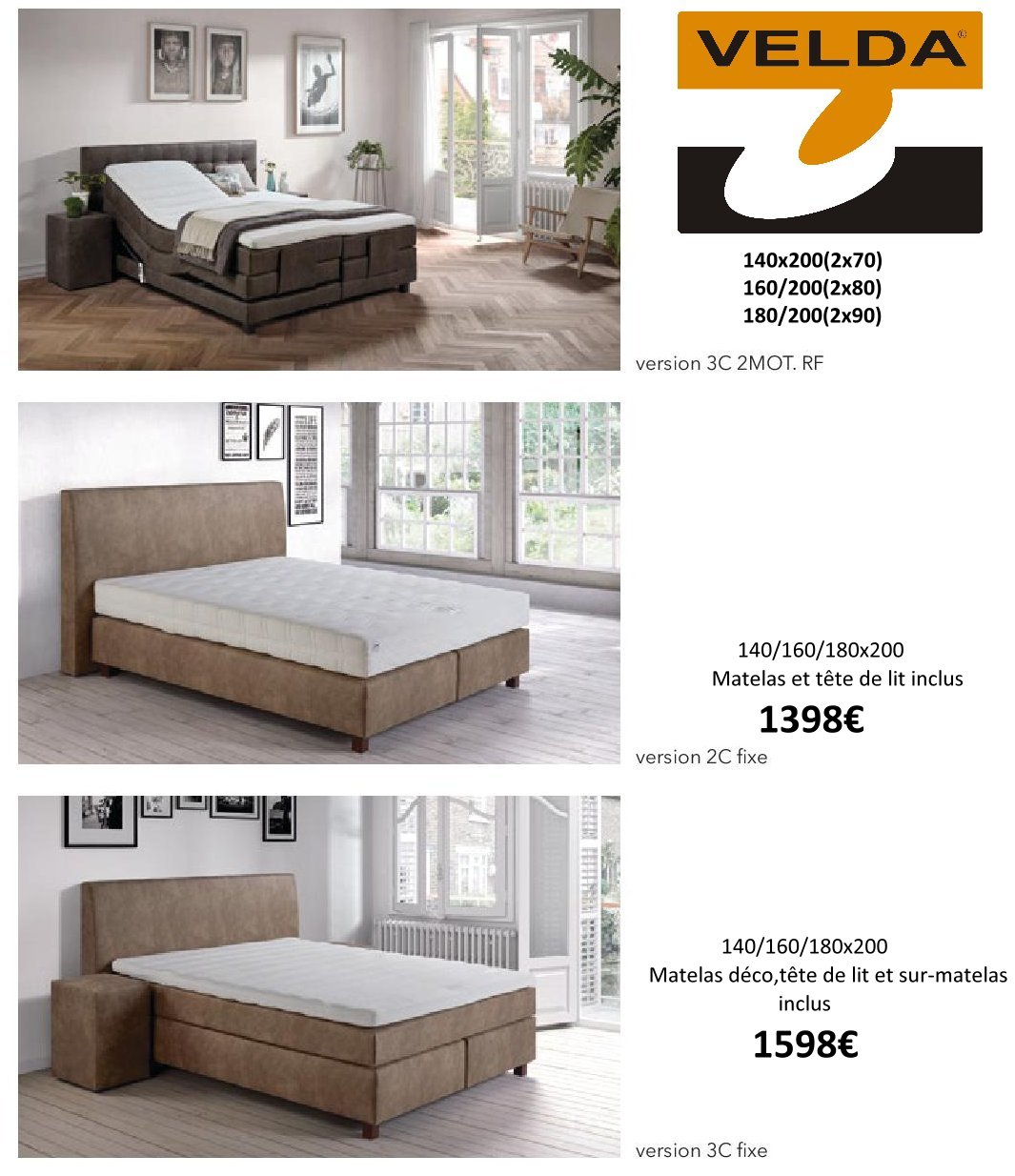 Boxspring Base Velda