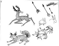Briar Patch arrows animal sketches