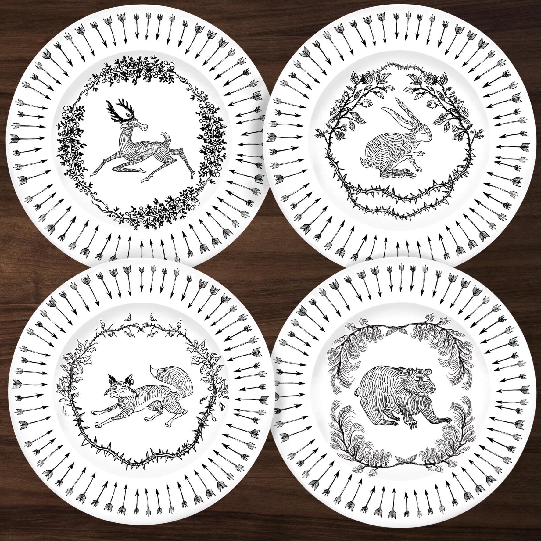 Briar Patch dinnerware animals arrow