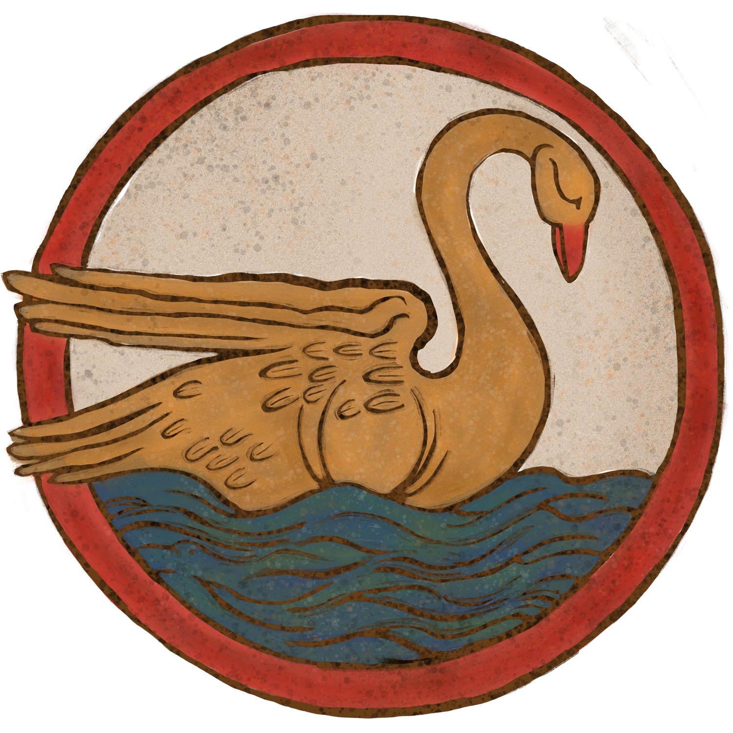 Blonde Swan Sticker Logo