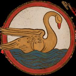 Blonde Swan Sticker Logo