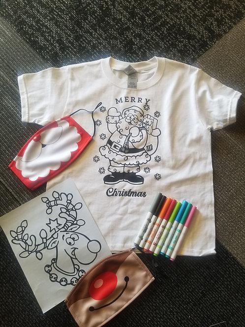 Christmas Coloring Tshirt