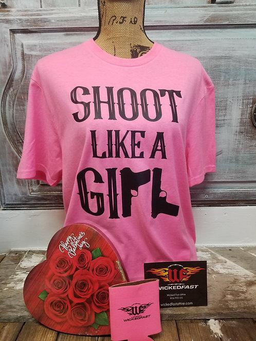 Shoot Like a Girl Unisex Tshirt