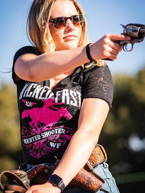 WF Mounted Shooter Burnout Vneck