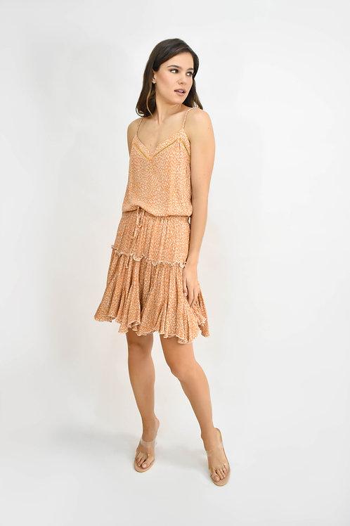 Set blusa y falda print rust
