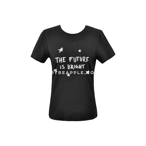 Tshirt the future is bright negra
