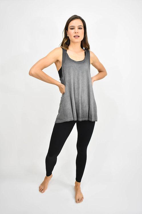 Blusa sin mangas cruzada espalda negra