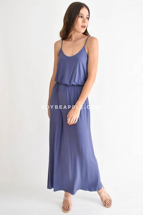 Vestido maxi tirantes azul