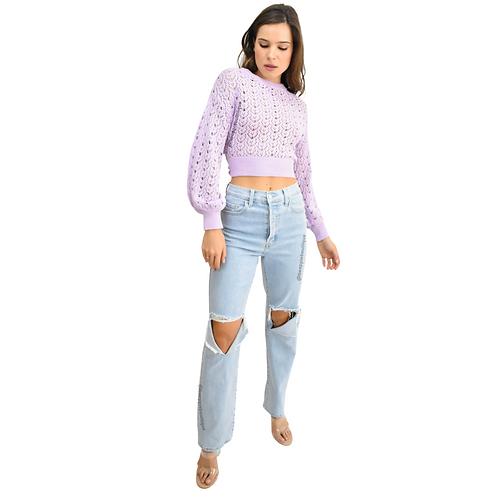 Sweater crop lila