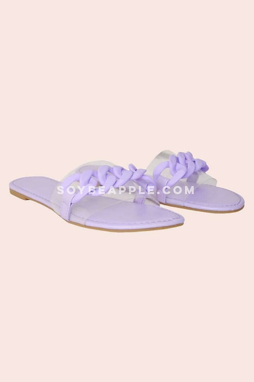 Sandalia con vinil lila