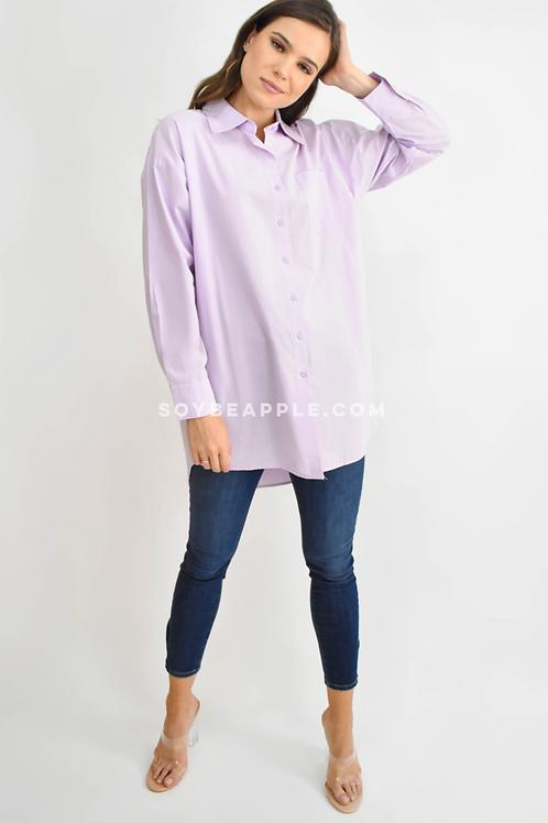 Camisa oversize lila