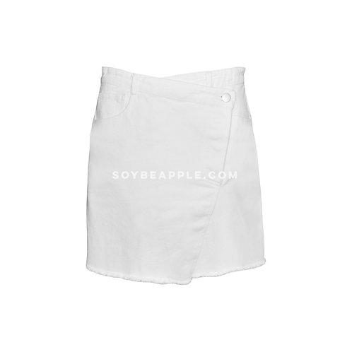 Falda mini mezclilla