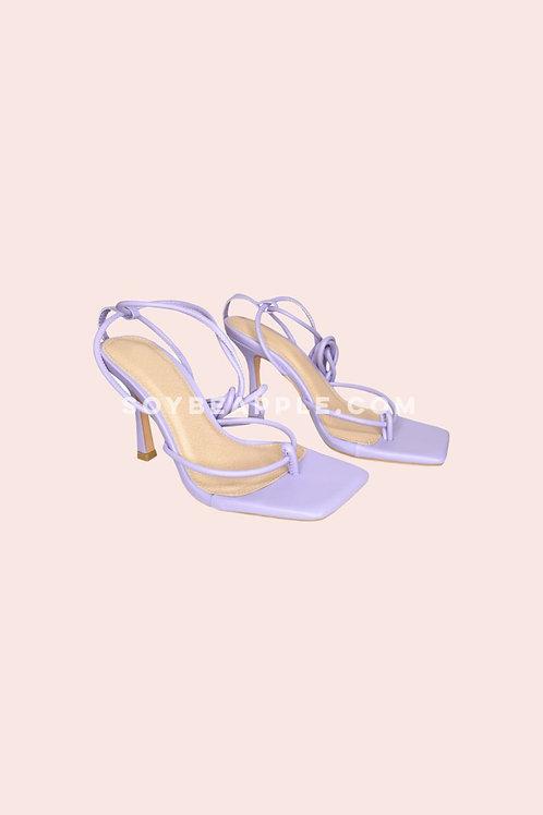 Zapatos tiras lila