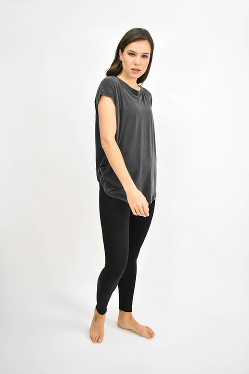 Blusa manga corta detalle espalda negra