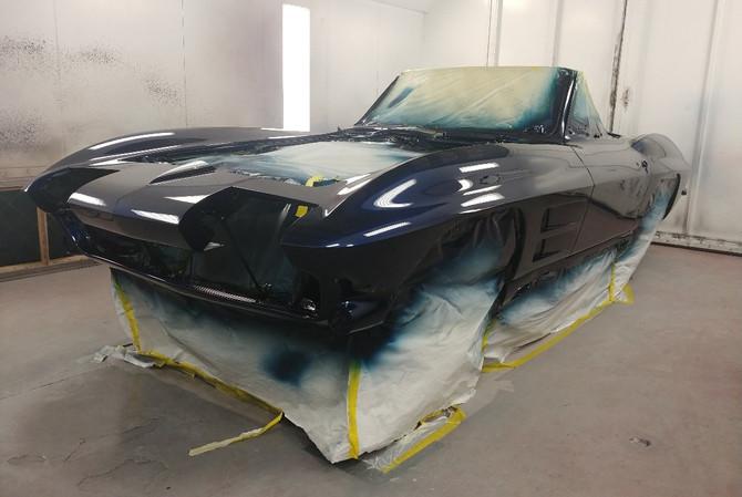 1964 Corvette Convertible - paint job