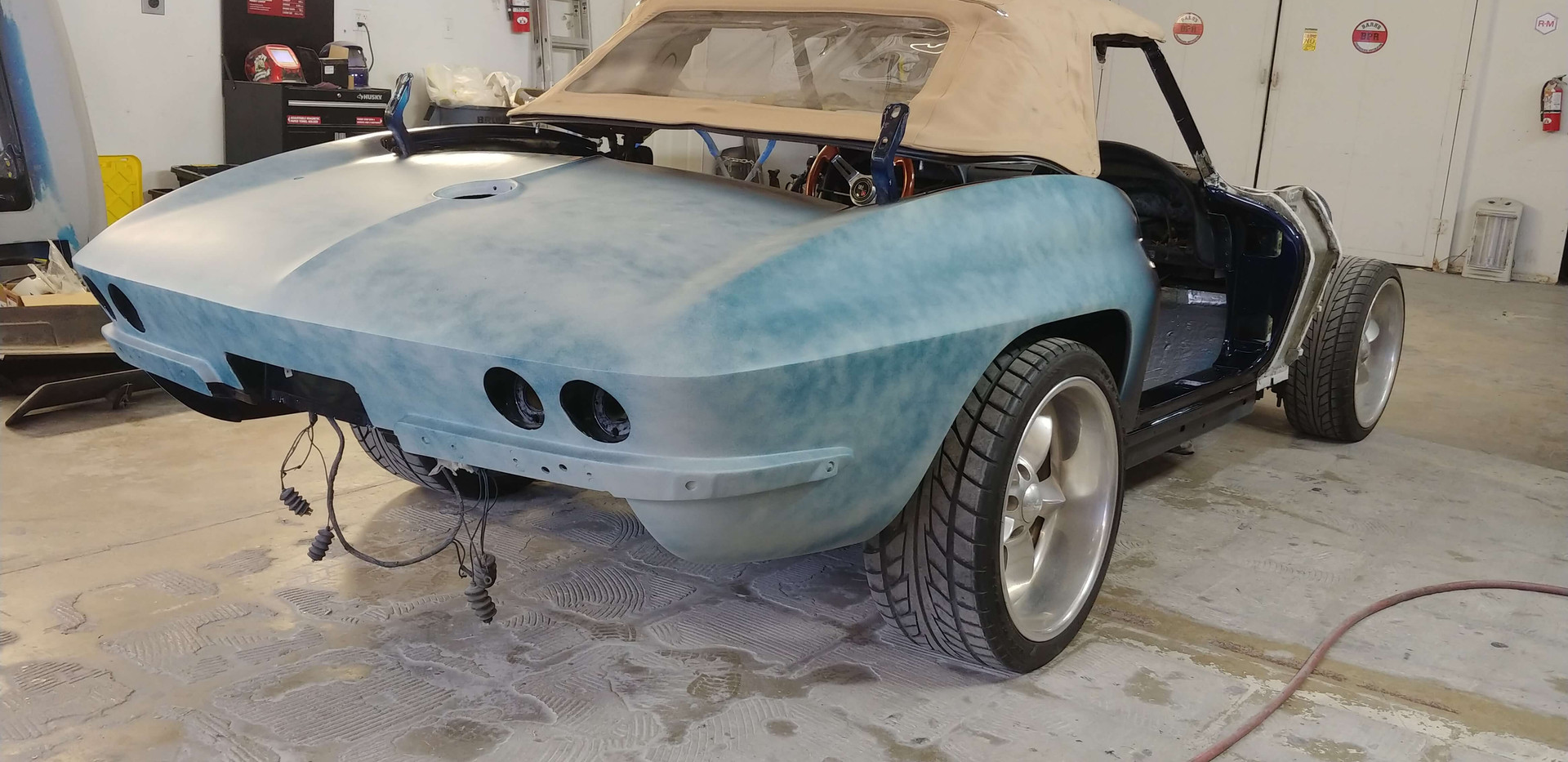 Bare Bones Corvette rear