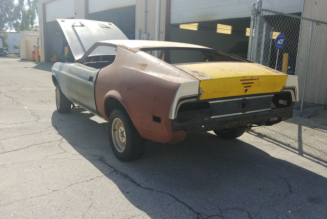 1973 Mustang Unfinished - rear view