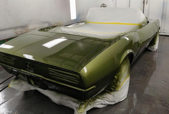 1968 Firebird Green - Paint (rear)
