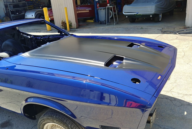 1973 Mustang - finished hood paint job