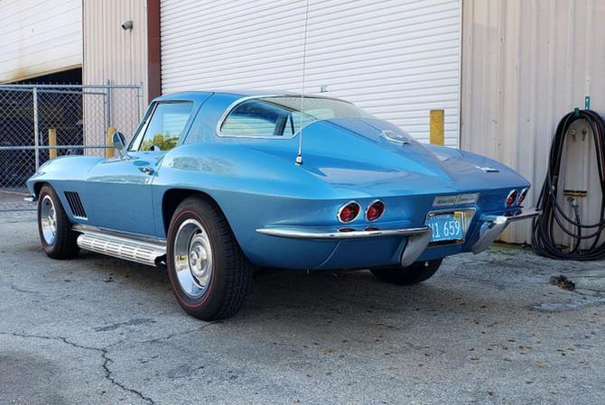 1967 Corvette Blue Paint