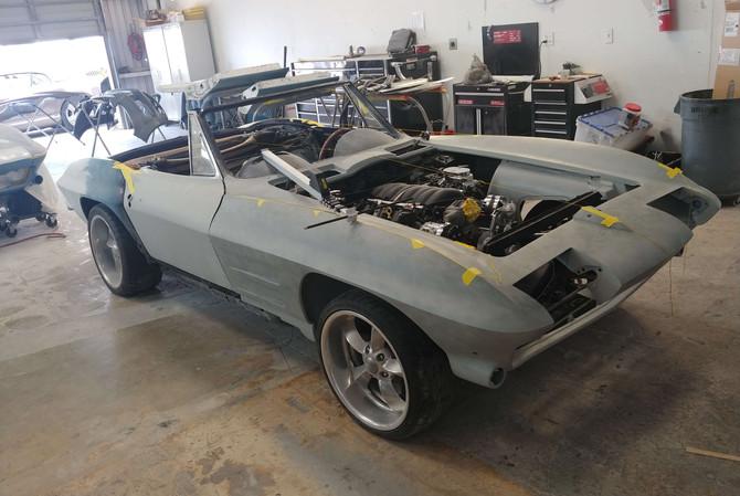 Corvette frame + body