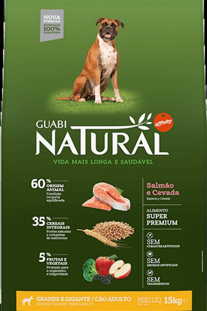 Guabi Natural Salmão Raças Grandes 15kg