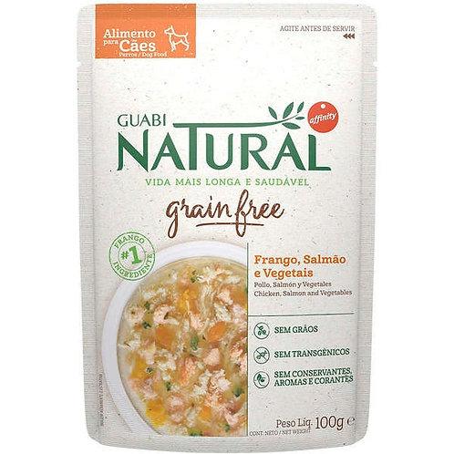 Ração Úmida Guabi Natural Grain Free Frango, Salmão e Vegetais para Cães Adultos