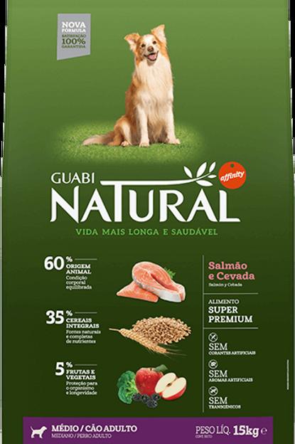 Guabi Natural Salmão Raças Médias 15kg