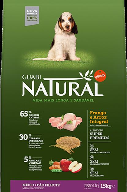 Guabi Natural Filhote Raças Médias 15kg