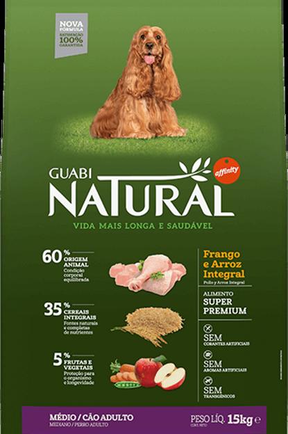 Guabi Natural Frango Raças Médias 15kg