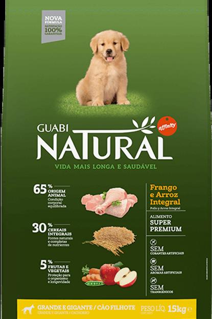 Guabi Natural Filhote Raças Grandes 15kg