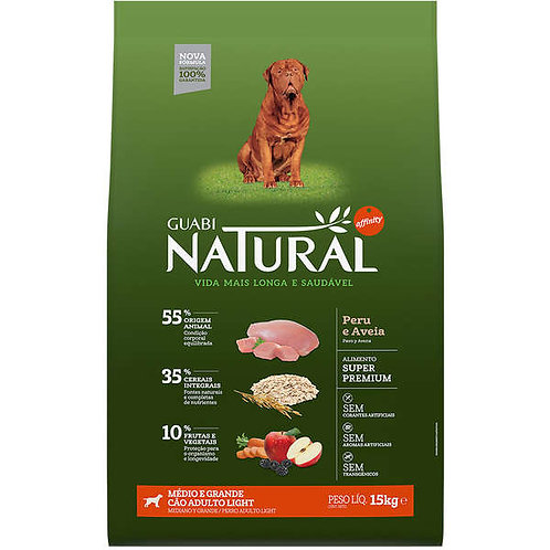 Guabi Natural Light Raças Médias e Grandes 15kg