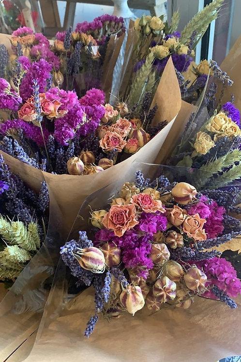 Bouquet de fleurs séchées , Mesclun d'été