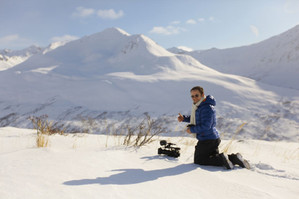 """Filming in Alaska for """"Rail Road Alaska"""" Discovery channel"""
