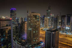 Dubai Long Exposure night