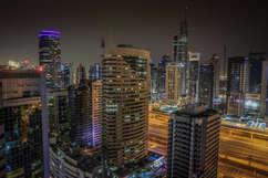 Dubai Long Exposure night