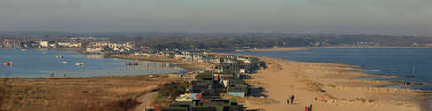 Mudeford - Hengistbury Head Beach Panorama