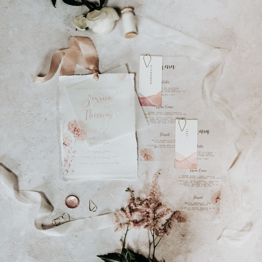 Rustic elegant invitations