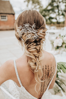 Modern bridal hair styling