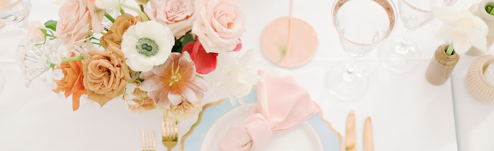 Romantic and elegaant pastel wedding