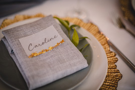 Gold, grey and green wedding
