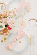 Stylish romantic blush table