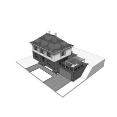 Entwurf I Villa auf den Spuren der 30er