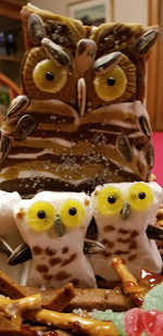 Great Horned Owl's Nest (Gingerbread 2019) Detail