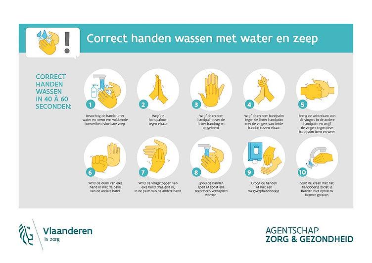 VVGC Instructies handen wassen met water
