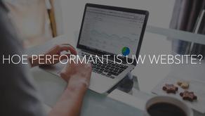 Hoe performant is uw website?
