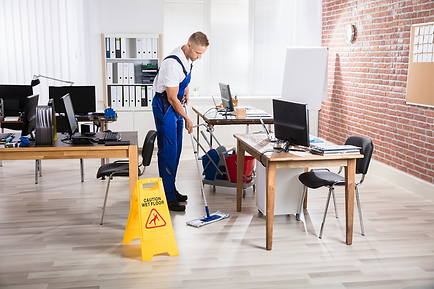 Mopping office